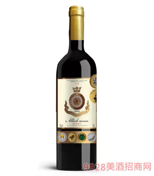 阿洛克酒庄·妮诺干红葡萄酒14度750ml