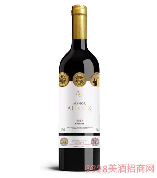 阿洛克酒庄·品诺干红葡萄酒14度750ml