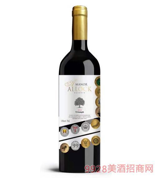 阿洛克酒�f・�P旋干�t葡萄酒14度750ml