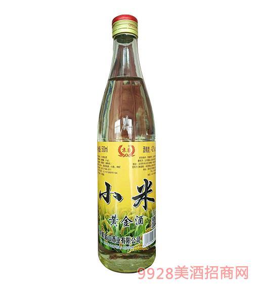 京唐小米黄金酒42度500ml