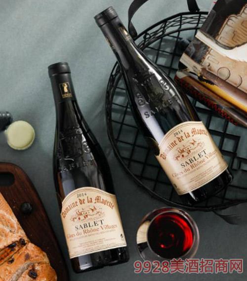 法国拉蒙德城堡萨布利村庄干红葡萄酒750ml