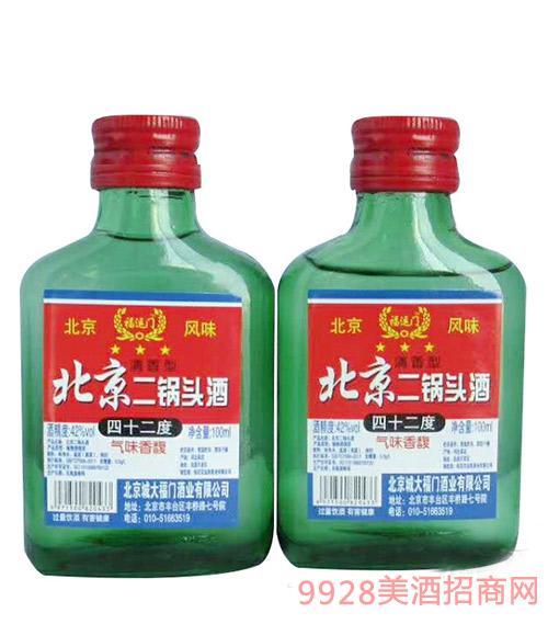 北京二锅头酒42度100ML绿瓶