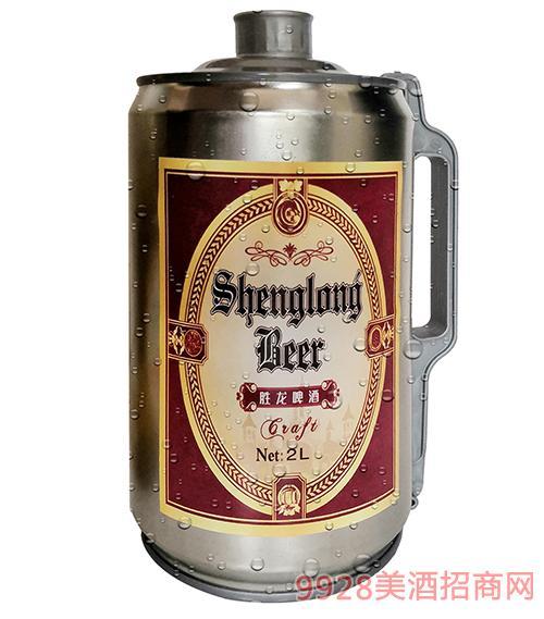 白胜龙啤酒2L×2桶