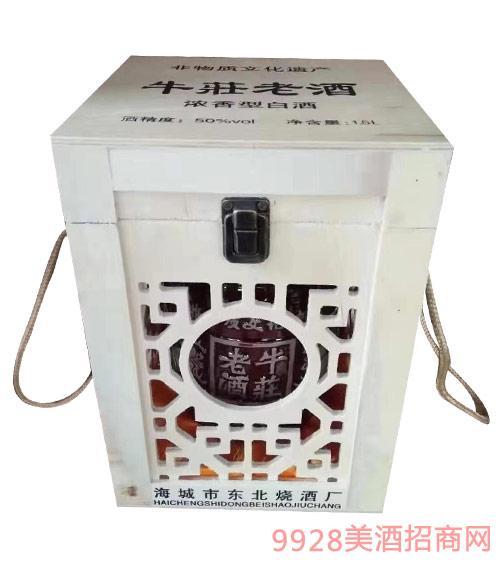 牛荘大曲三斤坛子酒50度1.5L