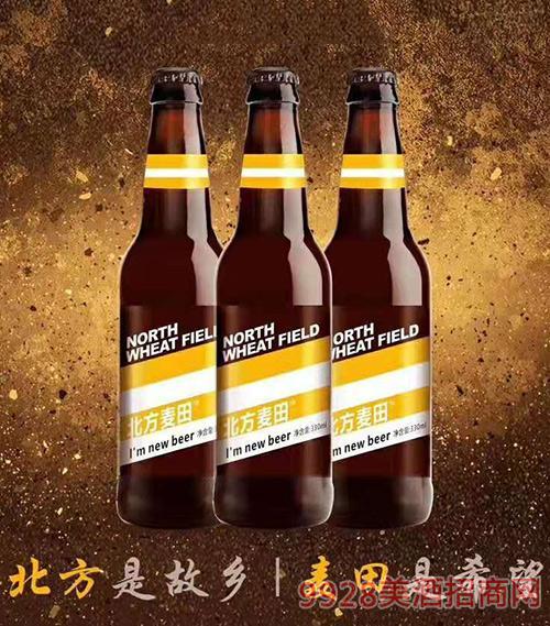 北方麦田优质小麦白啤330ml
