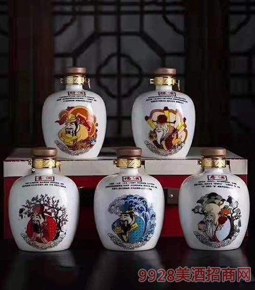 财福禄寿禧坛子酒