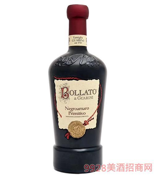 意大利柏拉图窖藏精酿干红葡萄酒