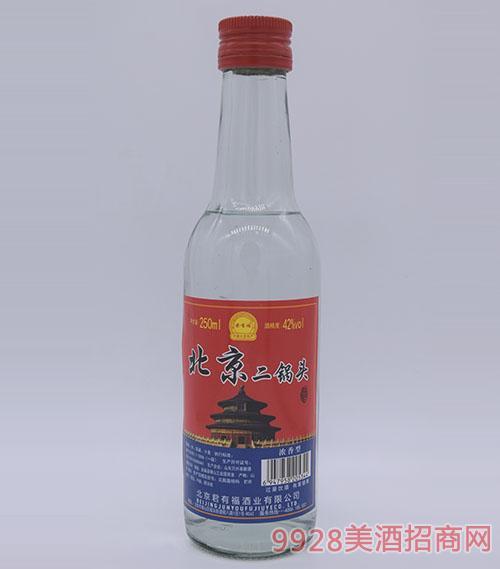 250ml君有福北京二锅头酒42度