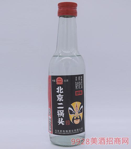 君有福北京二锅头酒黄脸谱250ml
