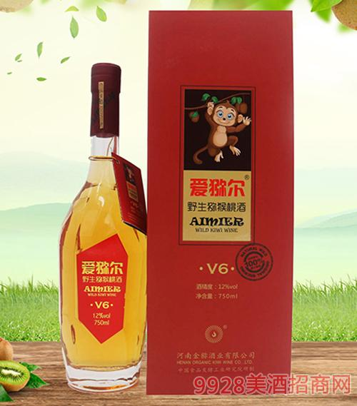 爱猕尔猕猴桃酒V6高档甜型