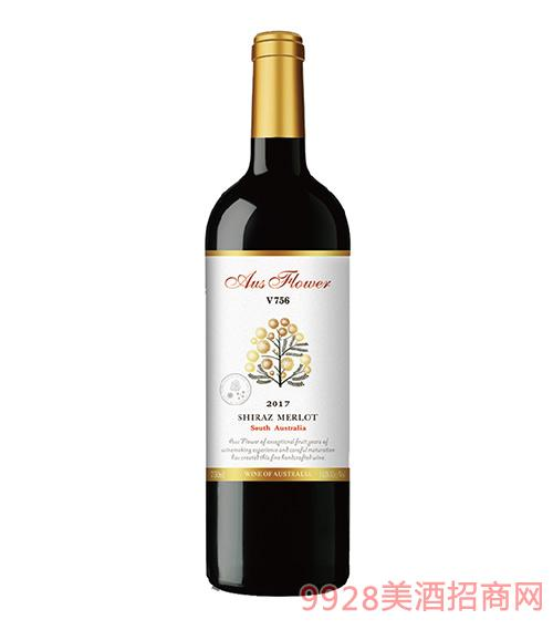 V756美乐西拉子干红葡萄酒