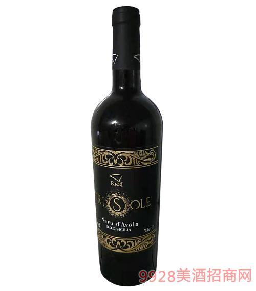 特里索莱黑达沃拉红葡萄酒
