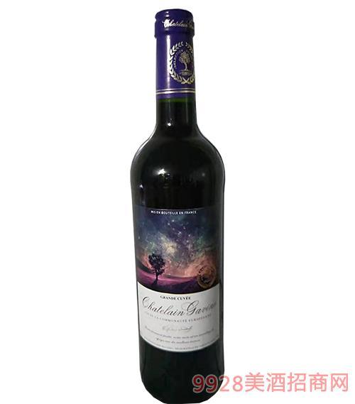 法国嘉文星空干红葡萄酒