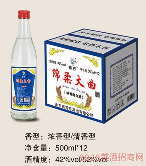 雪仔綿柔大曲酒500mlx12