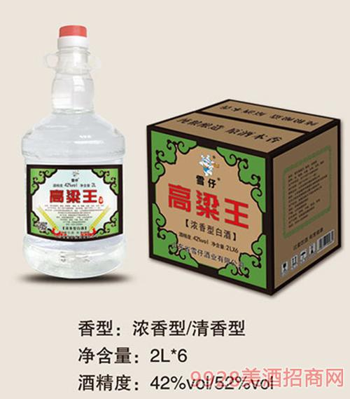 雪仔高粱王桶�b酒2Lx6