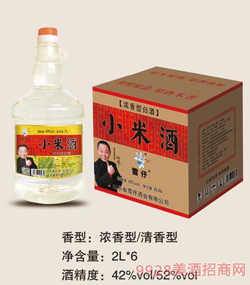 雪仔桶�b小米酒2Lx6