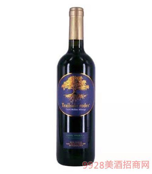西班牙黄金树干红葡萄酒12度750ml