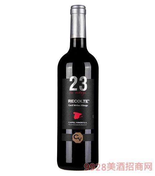 西班牙23种子干红葡萄酒12度750ml