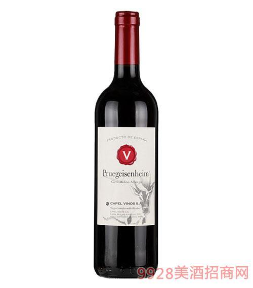西班牙大V干红葡萄酒12度750ml