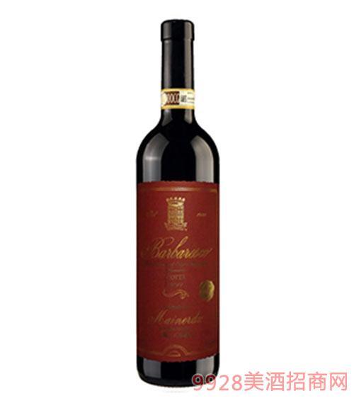 意大利巴巴萊斯科干紅葡萄酒14度750ml