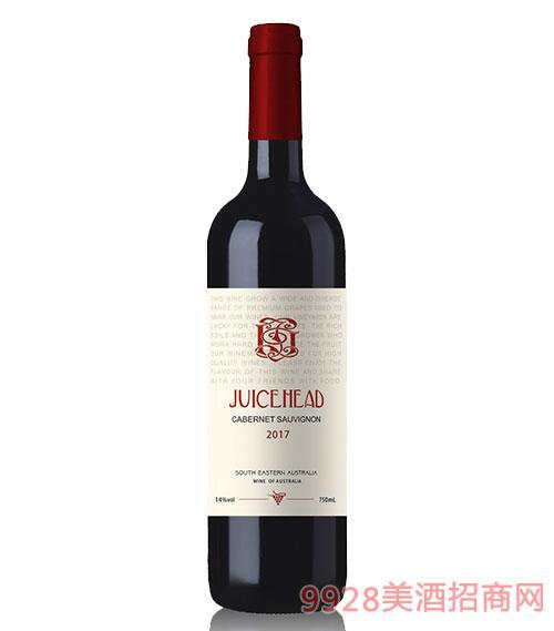 澳大利亞珠思海德赤霞珠干紅葡萄酒14度750ml