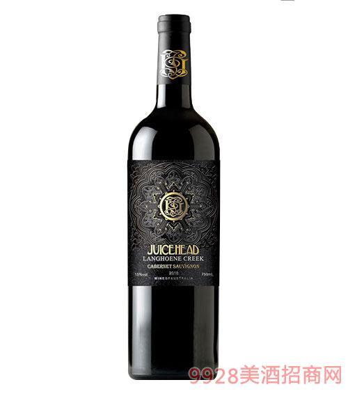 澳大利亞珠思海德干紅葡萄酒15度750ml黑標
