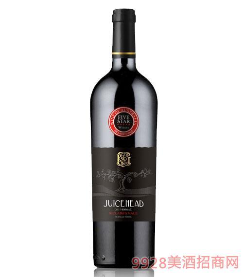 澳大利亞珠思海德干紅葡萄酒16.8度750ml黑標