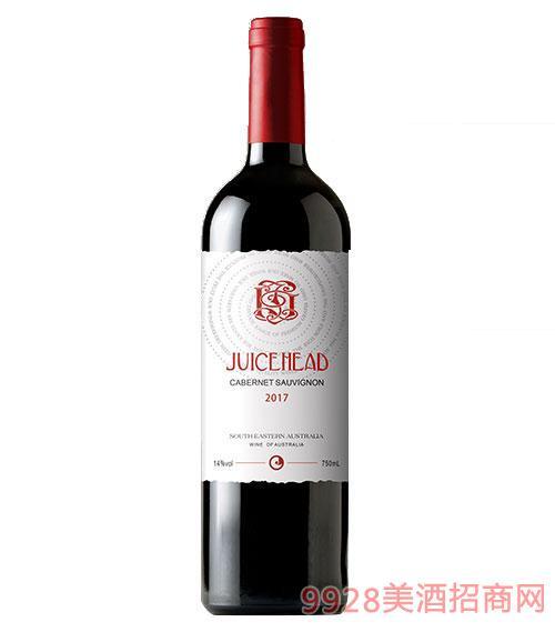 澳大利亞珠思海德干紅葡萄酒14度750ml白標