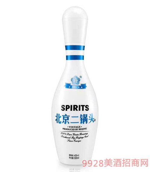 北京二锅头酒42度500ml蓝标