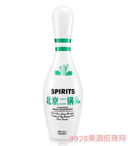 北京二锅头酒42度500ml绿标