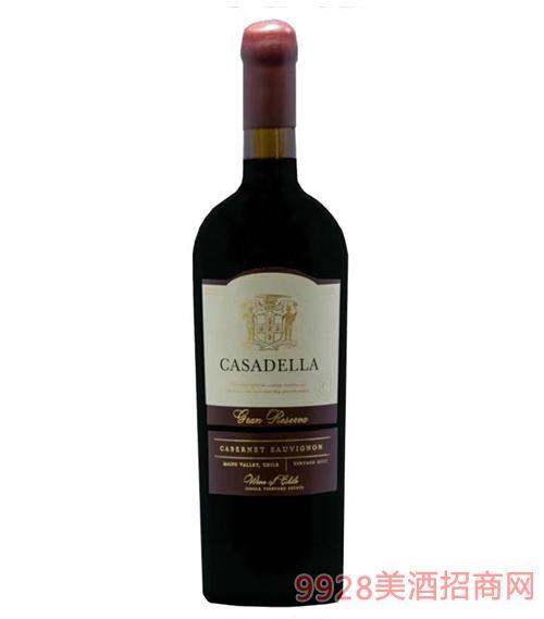 卡薩德拉特級珍藏赤霞珠干紅葡萄酒