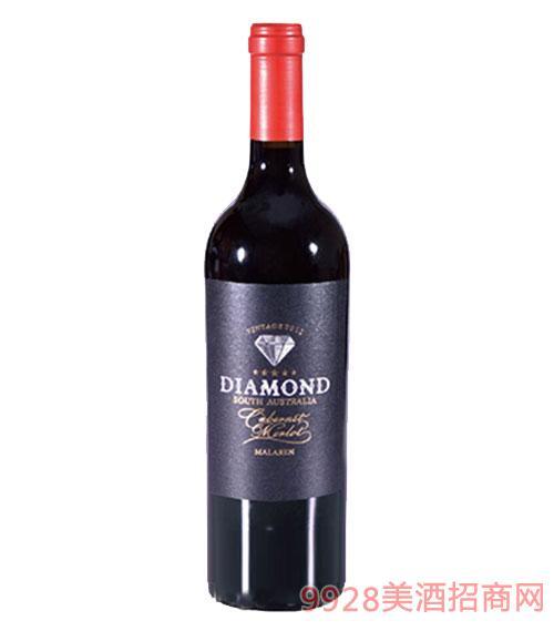 銀鉆石赤霞珠梅樂紅葡萄酒15度750ml