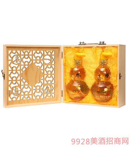 人參酒(葫蘆瓶木盒)