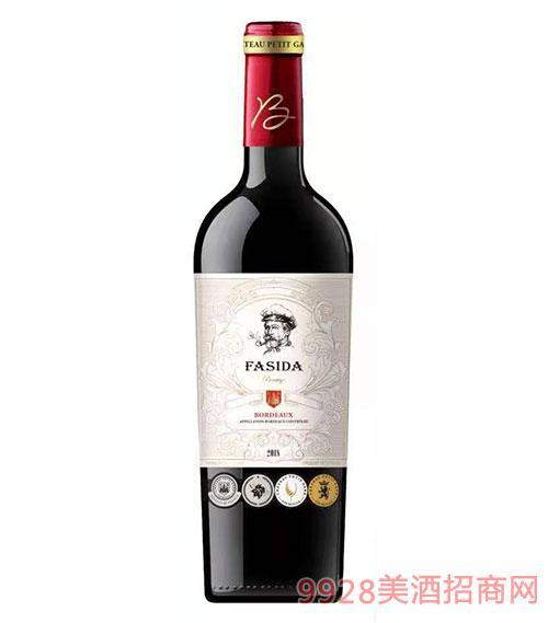 法斯达波尔多珍酿干红葡萄酒(白标)15度750ml