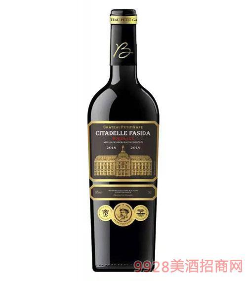 法斯达波尔多古堡干红葡萄酒15度750ml