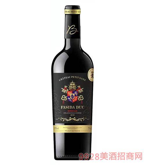 法斯达波尔多公爵干红葡萄酒15度750ml