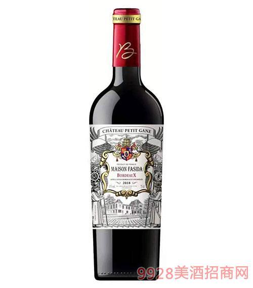 法斯达波尔多城堡干红葡萄酒15度750ml