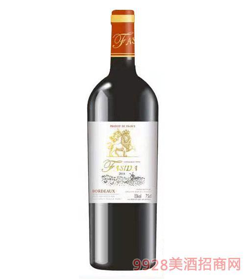 法斯达波尔多优选干红葡萄酒15度750ml