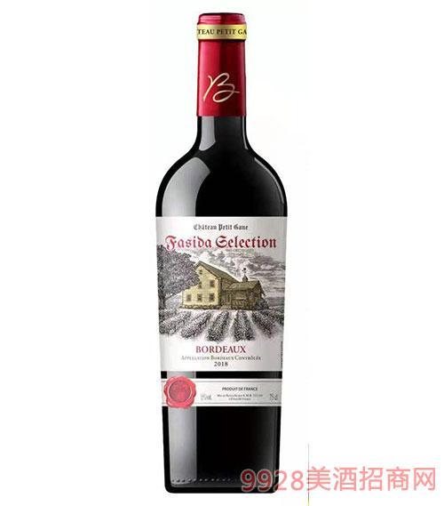 法斯达波尔多精选干红葡萄酒15度750ml