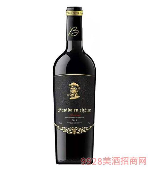 法斯达波尔多珍酿干红葡萄酒(黑标)15度750ml
