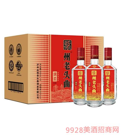 �o・州老�^曲酒�d柔光瓶500ml