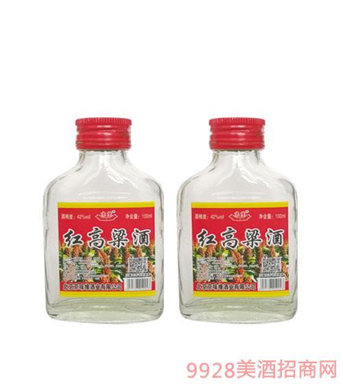 京堡红高粱酒42度100ml