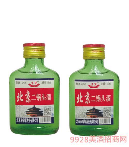 京堡北京二锅头酒42度100ml绿瓶
