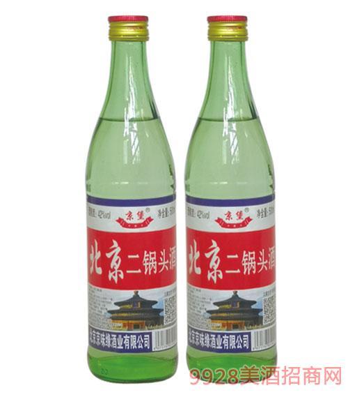 京堡北京二锅头酒42度500ml绿瓶