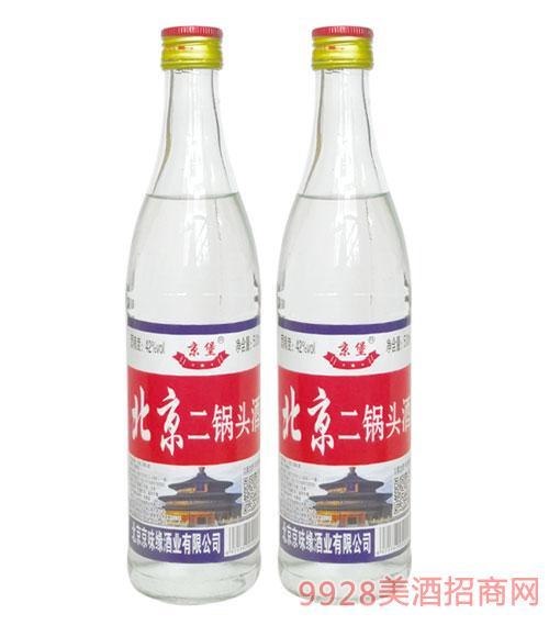 京堡北京二锅头酒42度500ml白瓶