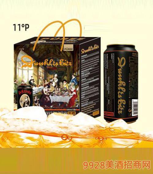 D3礼品盒德教仕精酿原浆黑啤酒500ml