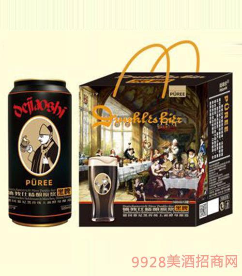 D3礼品盒德教仕精酿原浆黑啤酒500mlx12