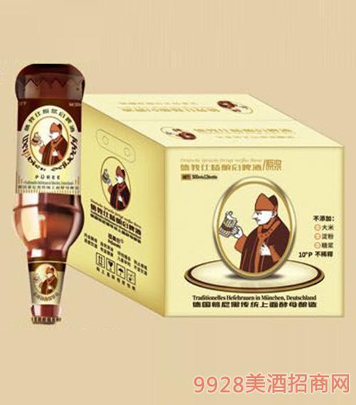 D11德教仕精酿原浆白啤酒(倒)