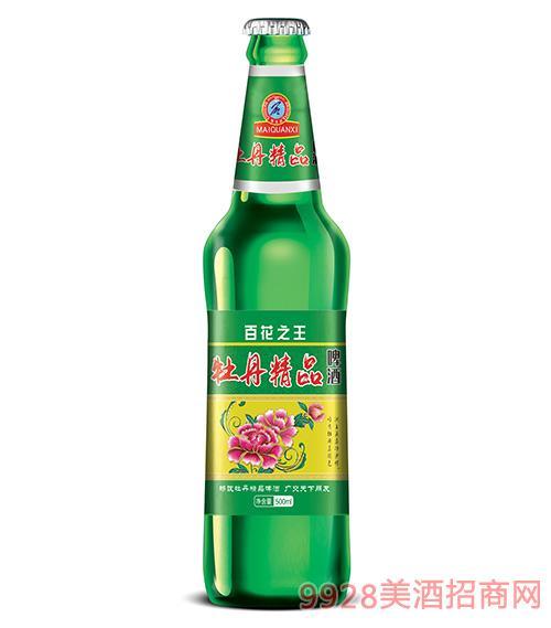 牡丹精品啤酒500ml瓶装