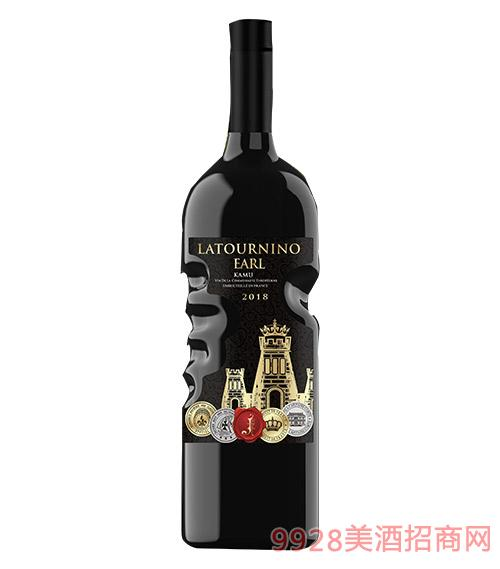 拉图尼诺伯爵卡慕干红葡萄酒14度750ml